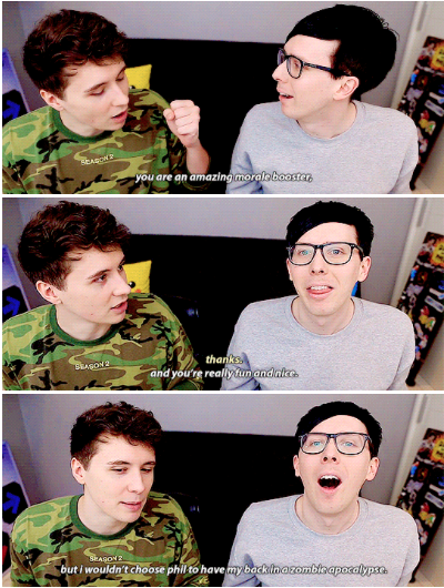GIF SET: Can Dan and Phil survive Fortnite?!