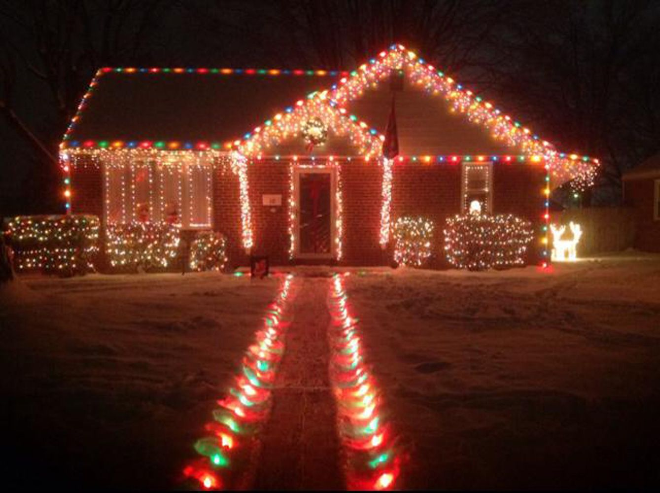 Gingerbread House Christmas Lights