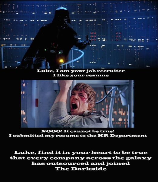 Star Wars Empire Strikes Back Job Recruiters outsourcing Funny - outsourcing recruiter resume