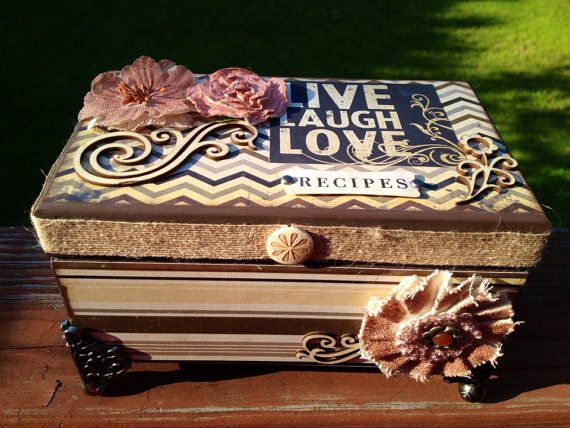 Live Laugh Love Recipe Box by thepapercrateny on Etsy, $44.99