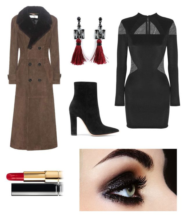 """""""Sin título #38"""" by sandra-gonz on Polyvore featuring Balmain, Gianvito Rossi y Yves Saint Laurent"""