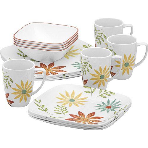 Home Dinnerware Sets Walmart Square Dinnerware Set Dinnerware Set