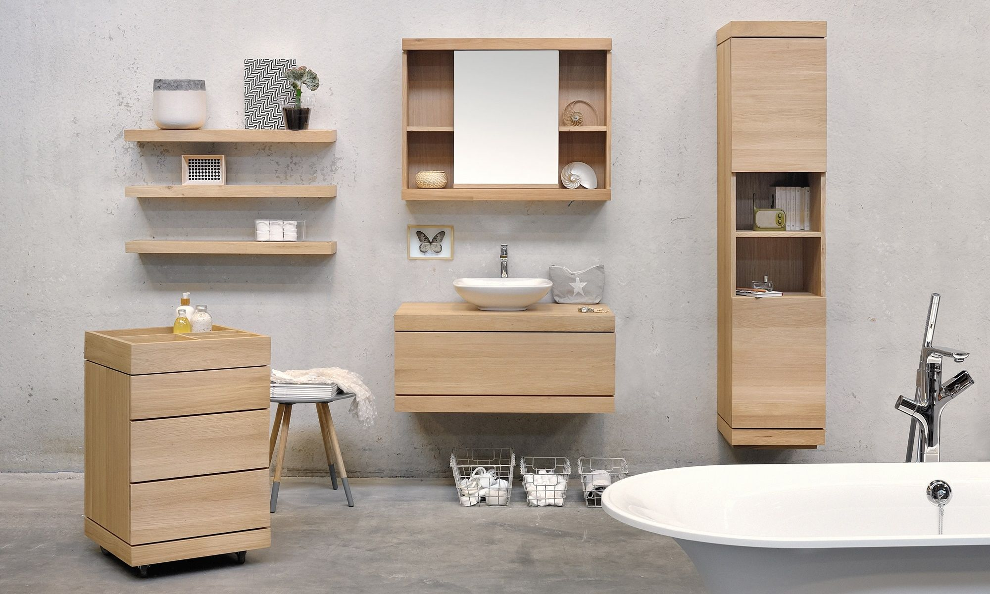 Ethnicraft Bathroom Bathroom Furniture Oak Bathroom Bathroom Storage