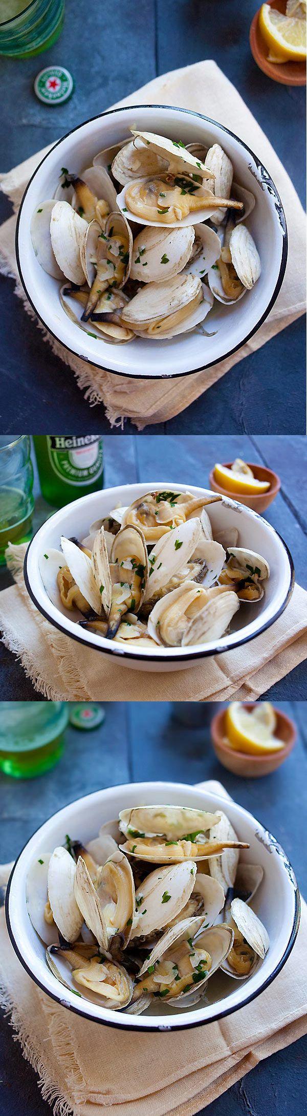 Garlic Butter Steamers – New England steamers (soft shell