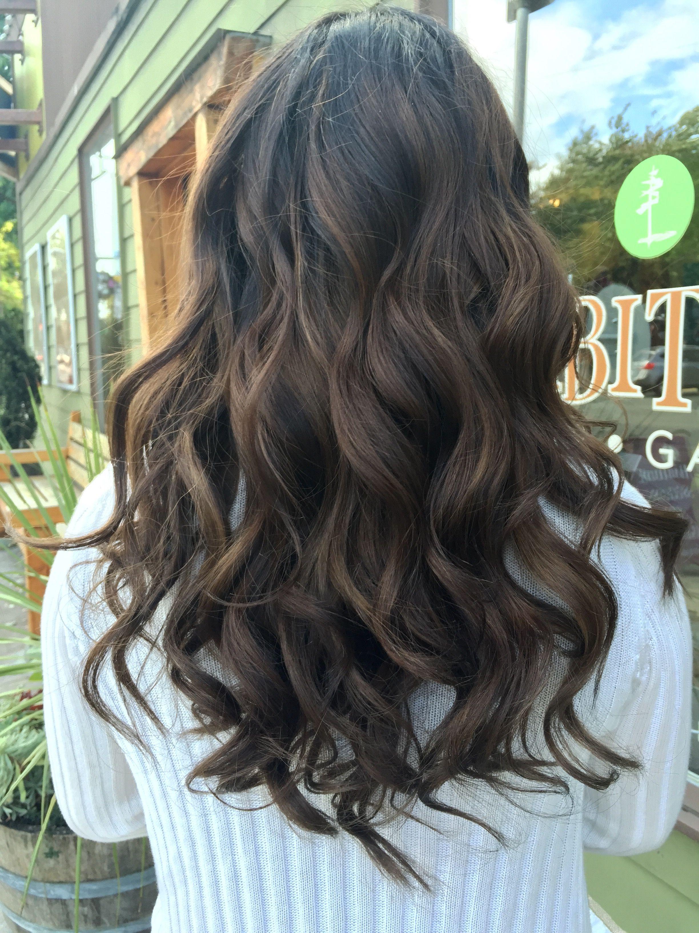 Ash Brown Balayage Hair Dyed Curly Hair Hair Styles