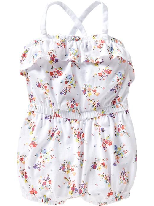 abc4d1946a23 Floral-Print Jersey Rompers for Baby Product Image