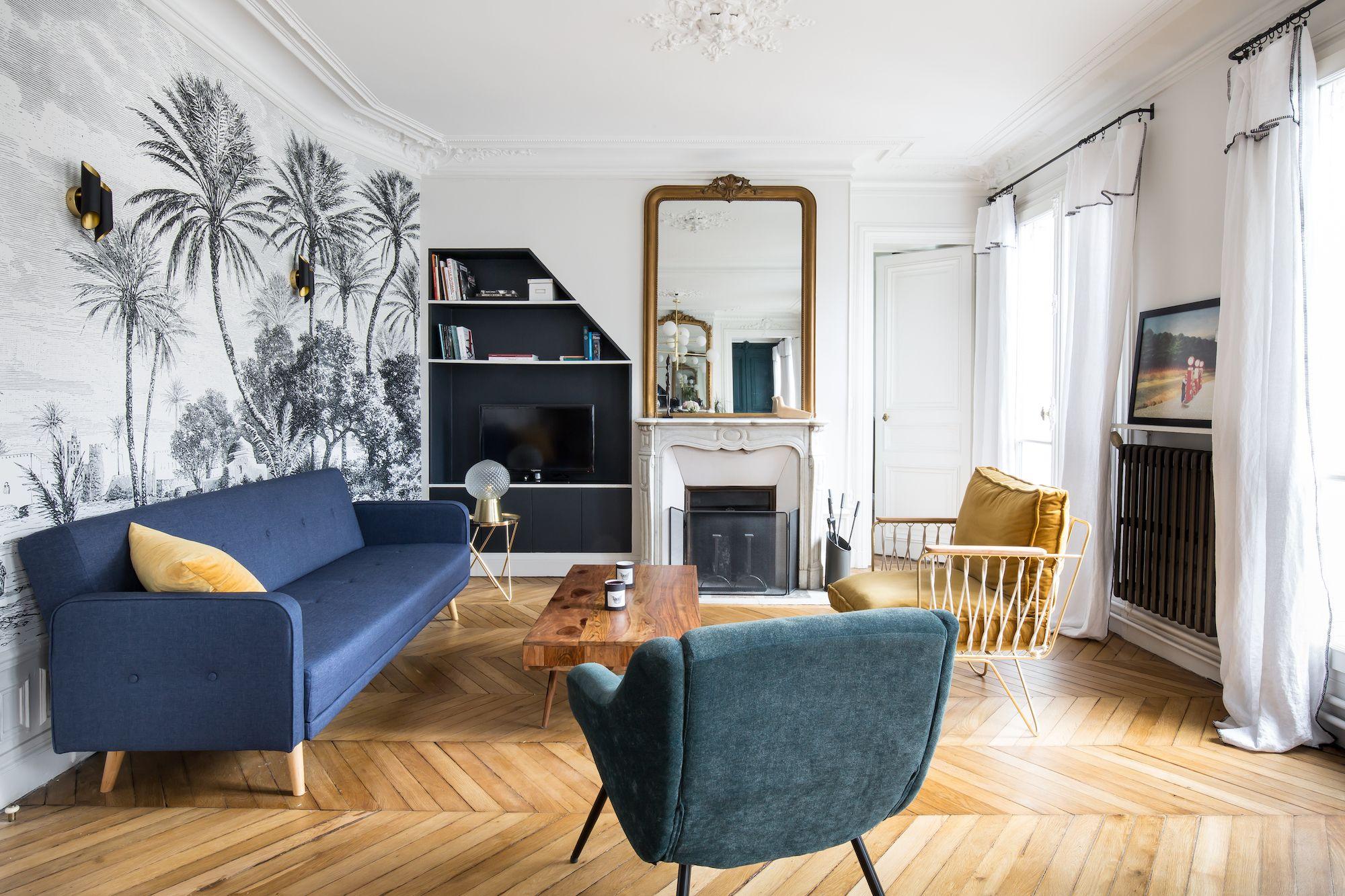 Rue De Maubeuge Caroline Andreoni Agence De Design D Interieur Caroline Andreoni En 2020 Appartement Salon Appartement Amenagement Salon