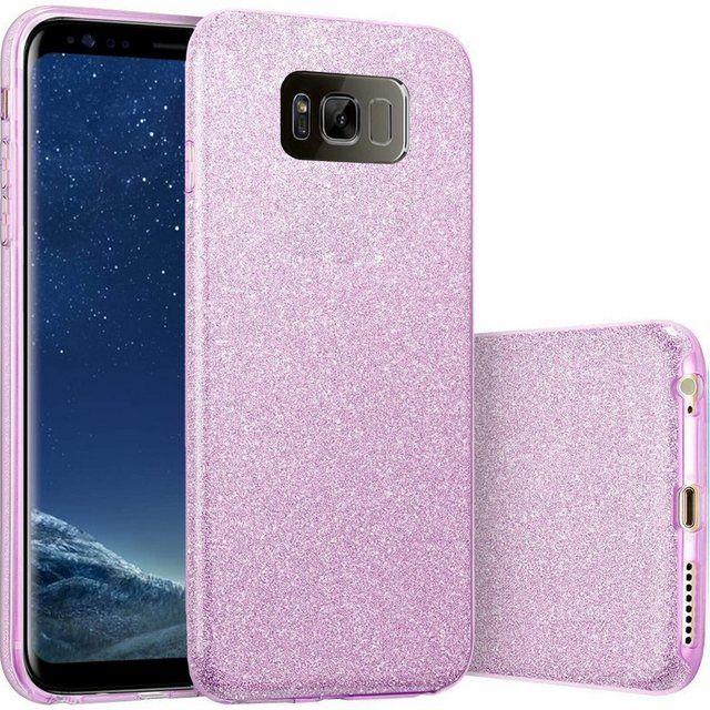 Finoo Smartphone-Hülle »3 in 1 Glitzer Handyhülle für das Samsung Galaxy S8 Plus in Lila« online kaufen | OTTO