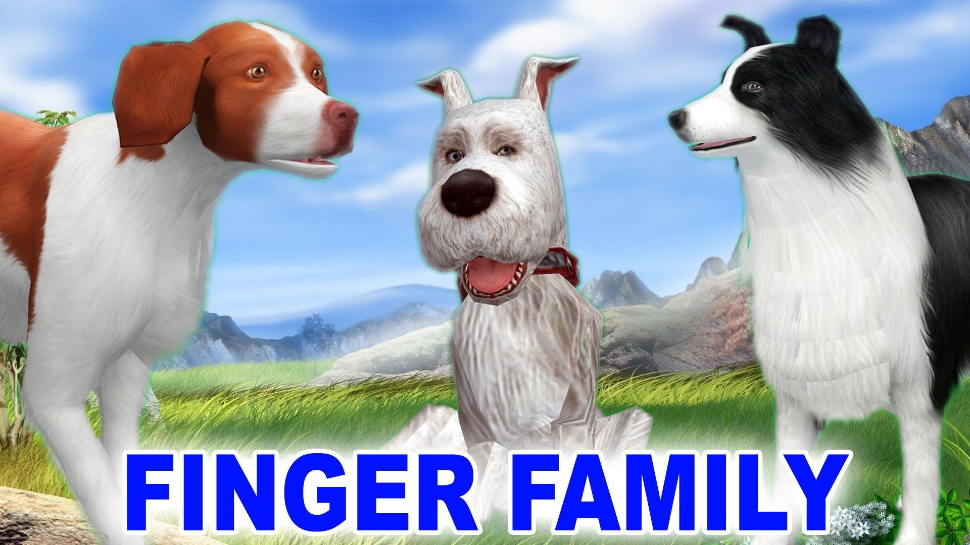 Cats and Dogs singing Finger Family Song Children