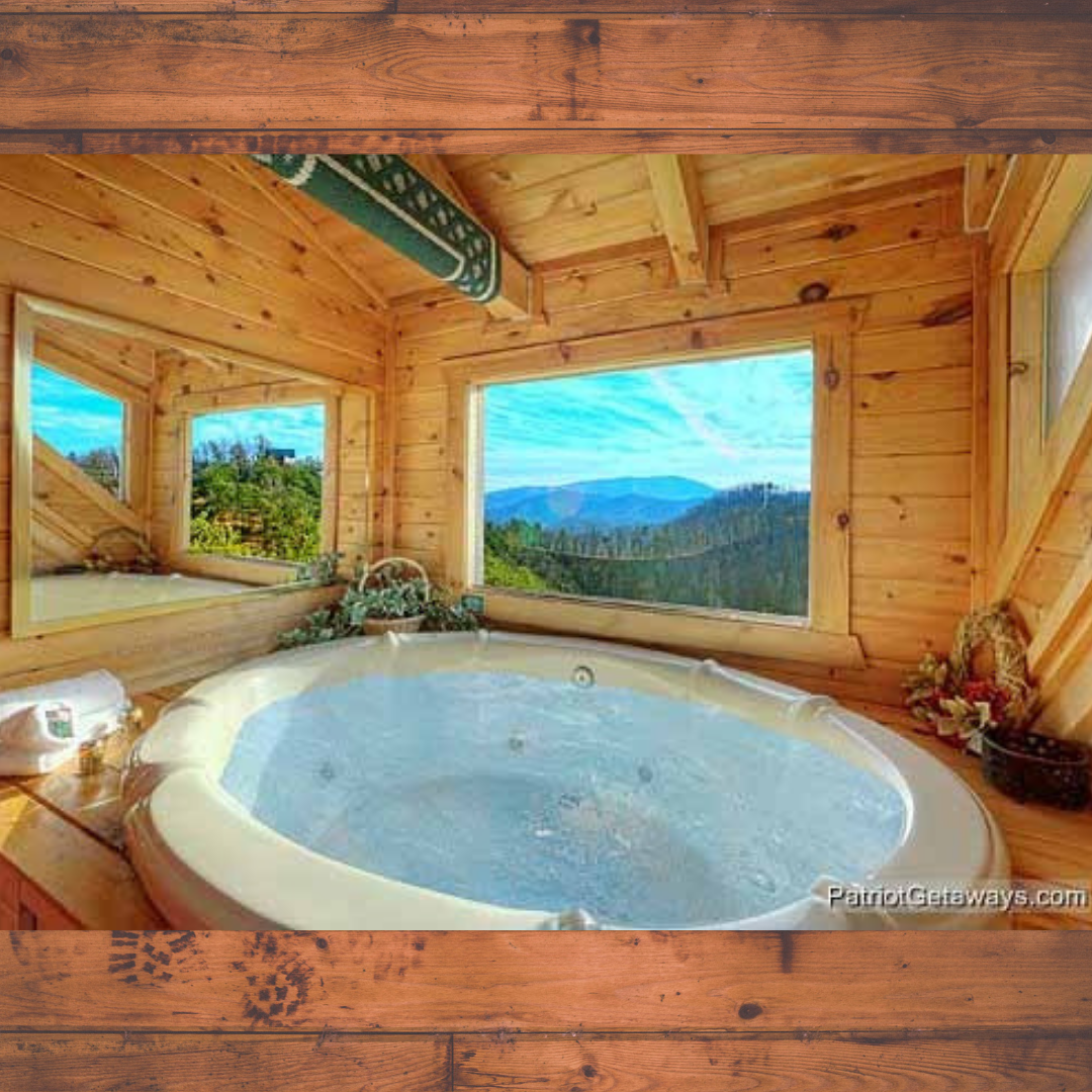 Sunset Vista View Deluxe 1 Bedroom Pigeon Forge Cabin Rental Hot Tub Cabin Vacation Cabin
