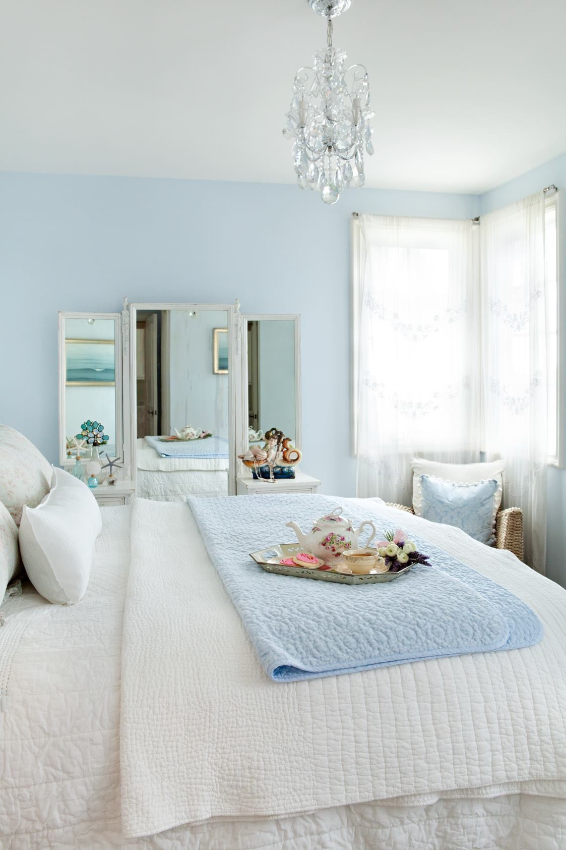 Pin By Vivian Rogers On D For Decoration Light Blue Bedroom Blue Bedroom Decor Elegant Bedroom Pastel blue bedroom designs