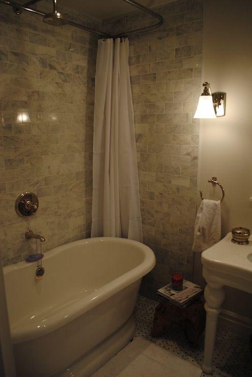 Razamataz - bathrooms - Benjamin Moore - Calm - ceiling height tiles ...