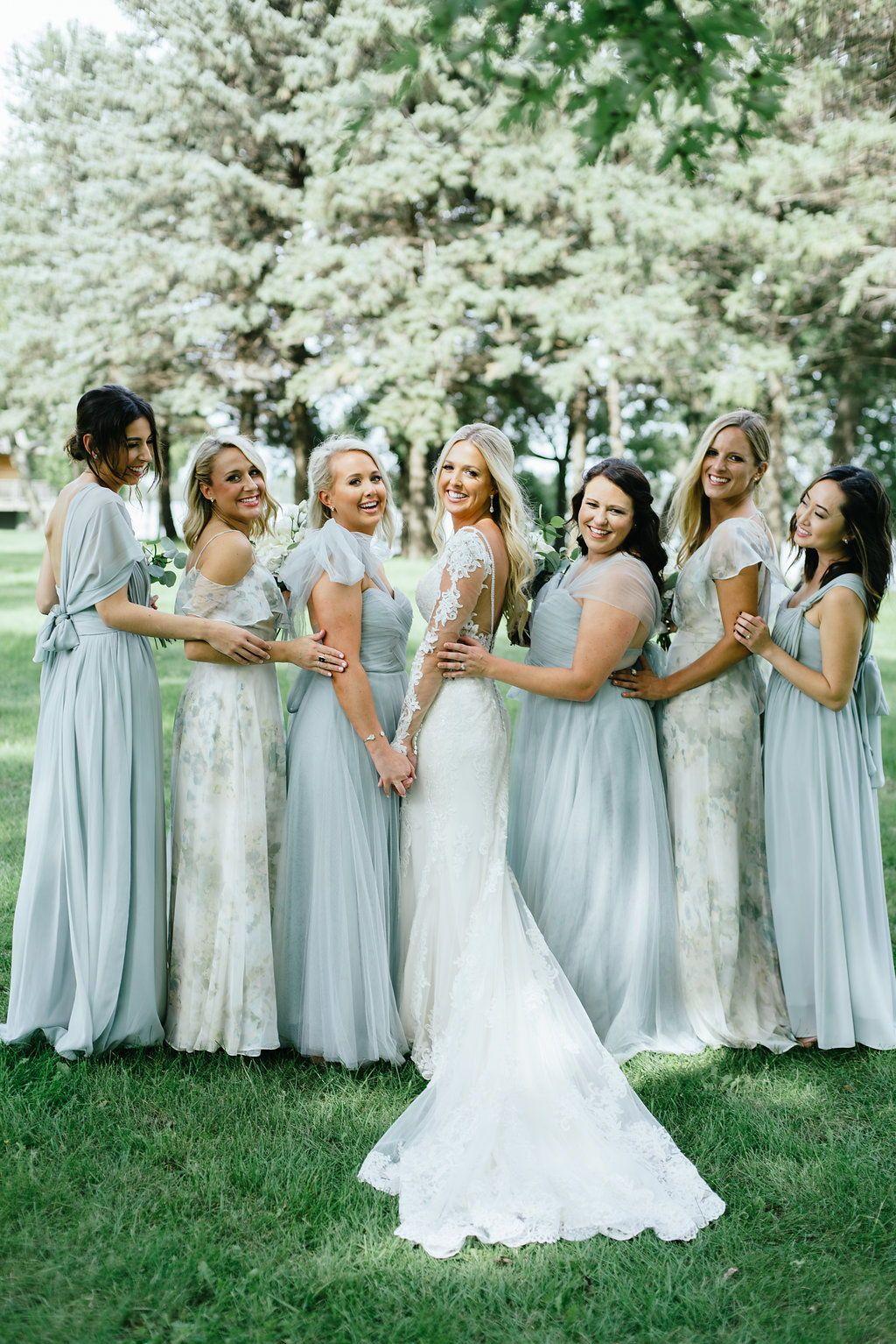 Loving This Blue Ivory Sage Print Mix Match Bridal Party Featurin Sage Green Bridesmaid Dress Bridesmaid Dresses Different Colors Green Bridesmaid Dresses [ 1534 x 1024 Pixel ]