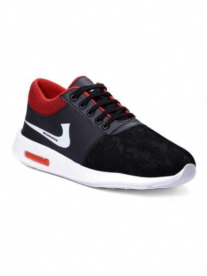 b591a322265 Stylish Red and Black Sports Shoes