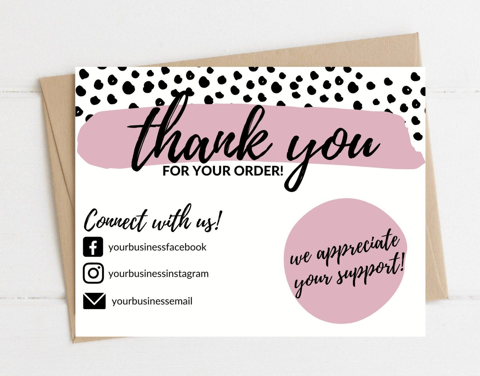 Instant Download Thank You Card Editable And Printable Thank Etsy In 2021 Printable Thank You Cards Business Thank You Cards Thank You Card Design