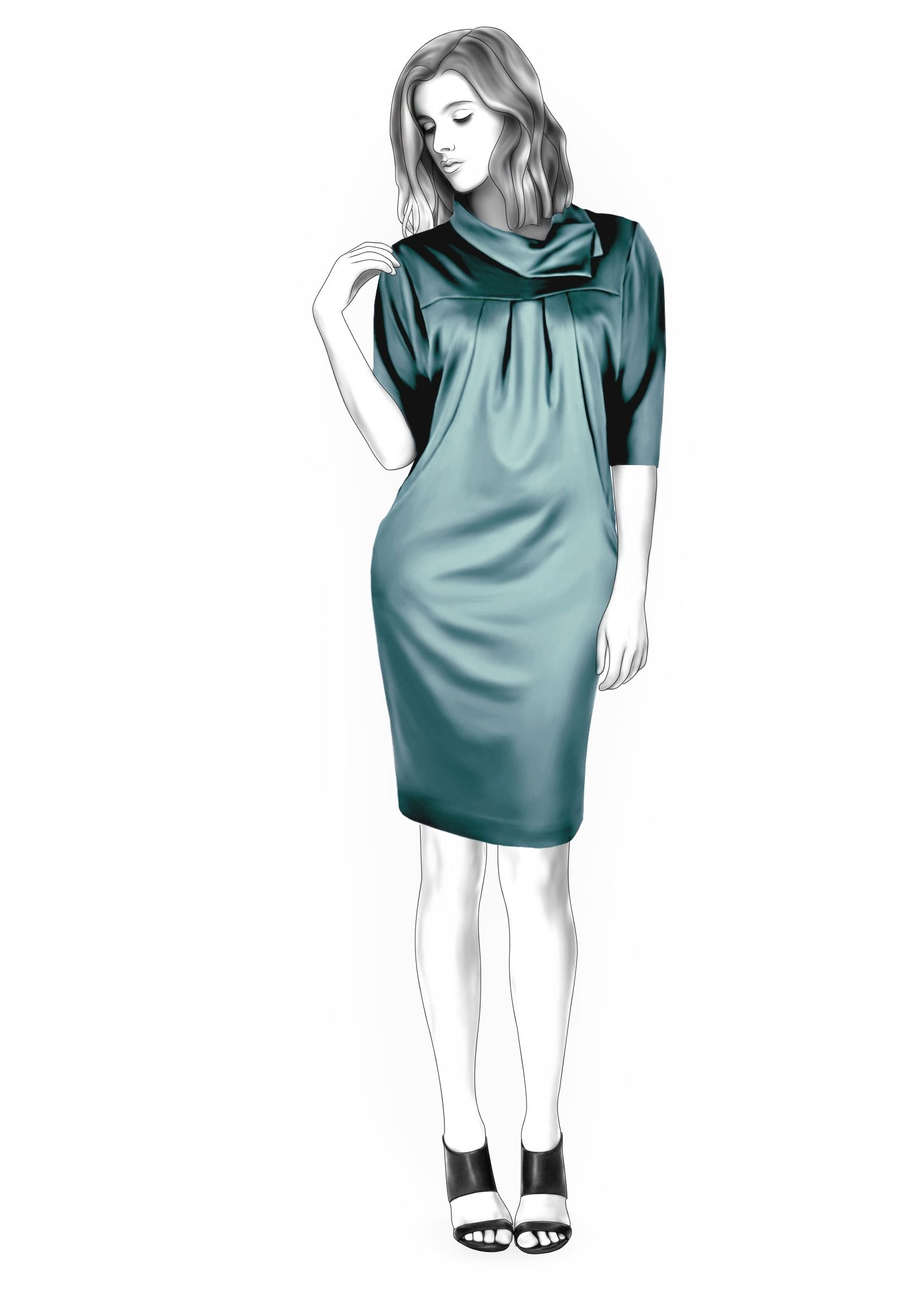 Knit Dress - Sewing Pattern #4393 Made-to-measure sewing pattern ...