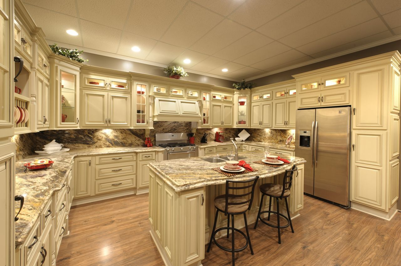 Heritage White Kitchen are in stock shown with