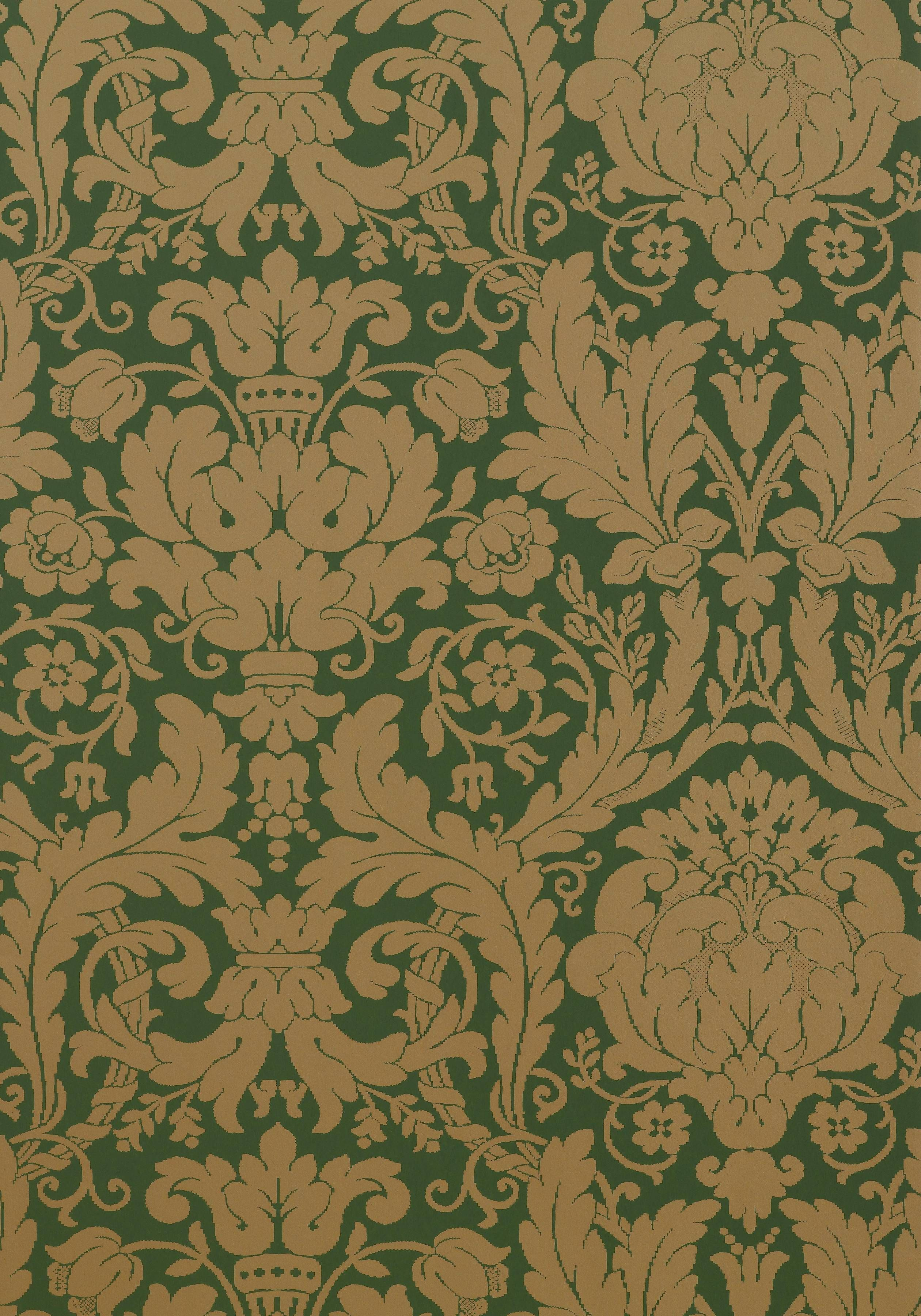 DREXEL, Hunter Green, T7628, Collection Damask Resource 3