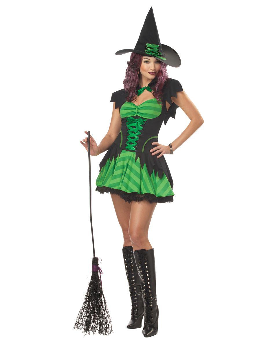 Hocus Pocus Witch Green Adult Womens Costume – Spirit Halloween ...
