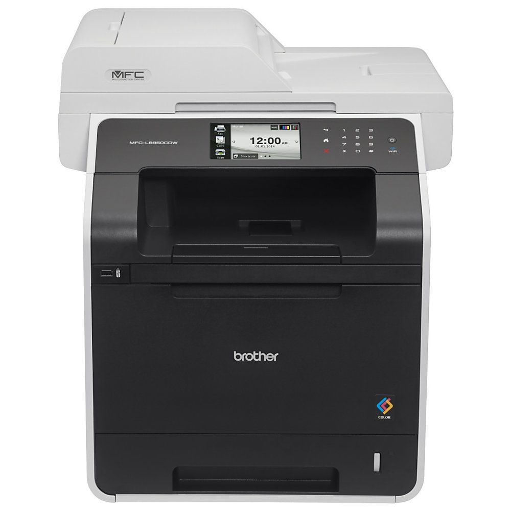 Brother Mfcl8850cdw Wireless Color Laser All In One Printer Scanner Copier And Fax Brother Printers Printer Scanner Laser Printer