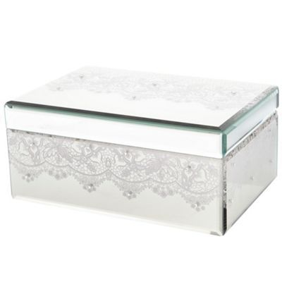 Star by Julien Macdonald Mirror large lace print jewellery box at
