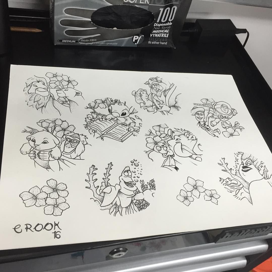 """Photo of Crook Tattoo on Instagram: """"I still have a few on this sheet left to tattoo or I will be drawing up some more if you have any requests. Will sort a good deal out as…"""""""