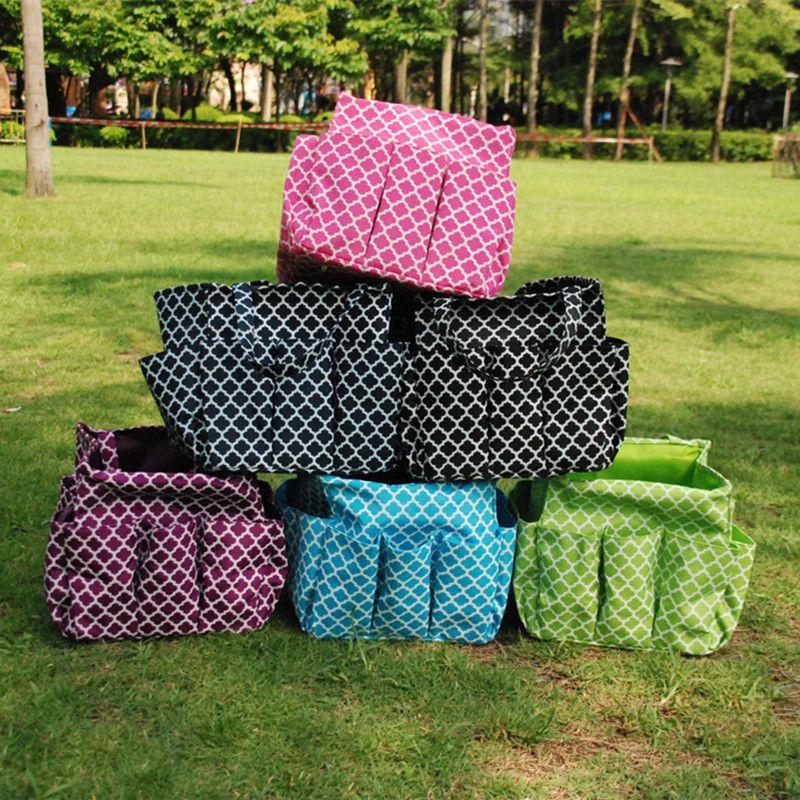 Wholesale Blanks Home Garden Tote Garden Tools Bag Multi Pockets Organizer  Storage Bag Prints Utility TotesDOM103177