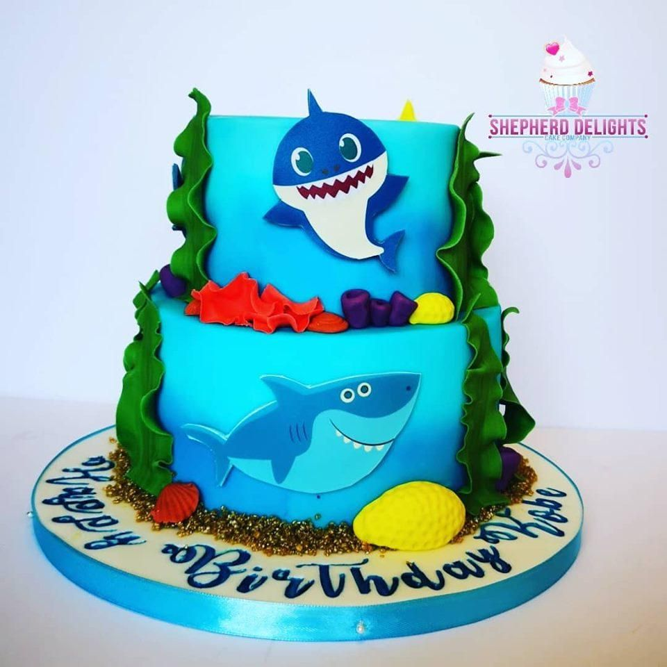 Baby shark do do do do one of my favourites two tier