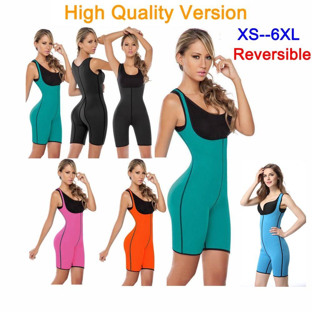 49bfc7ab89cec Ultra Sweat Neoprene Women Full Body Shaper Bodysuit Shapewear Suit Plus  Size  EFA2Z  BodySuits