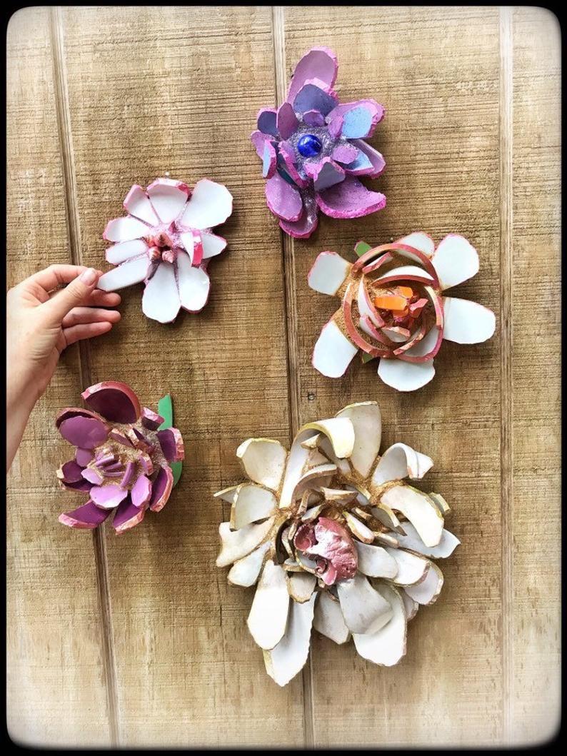 Handcrafted  Mosaic Flower,Decorative Mosaic Artwork,Purple Summer Flower art-mosaic flower wall hanging-home decor-housewarming gift