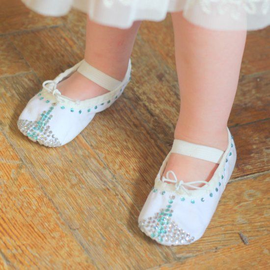 how to sew canvas ballet shoes