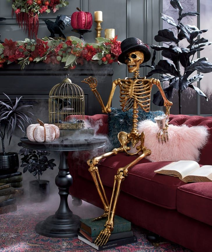 Distressed Gold Skeleton in 2020 Halloween decorations