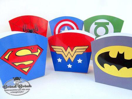 Caixinha Super Heróis - Loja Brind Brink