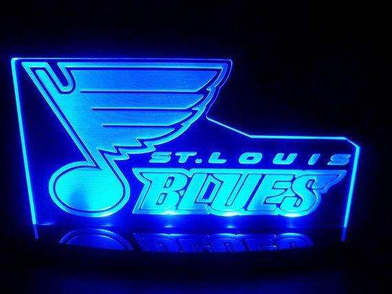 St Louis Blues Hockey Acrylic Led Desk Lamp Night Light Beer Bar Bedroom Game Room Sign On Etsy 59 50 St Louis Blues Hockey St Louis Blues Hockey Room