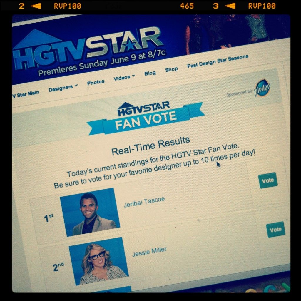 {Weekly Wrap Up} HGTV Star VOTE FOR JESSIE