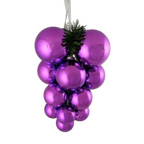 Purple Balls For Decoration Shiny Purple Shatterproof Christmas Ball Ornament Grape Cluster