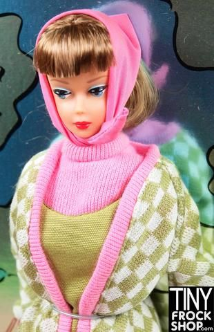 SCARF BARBIE DOLL MATTEL REPROD POODLE PARADE PINK SCARF CLOTHING ACCESSORY