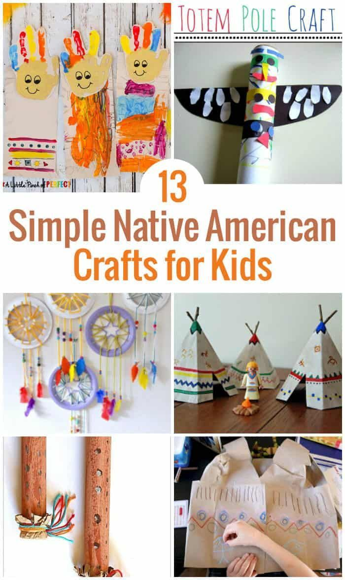 13 Easy Native American Crafts for Kids #nativeamericanindians