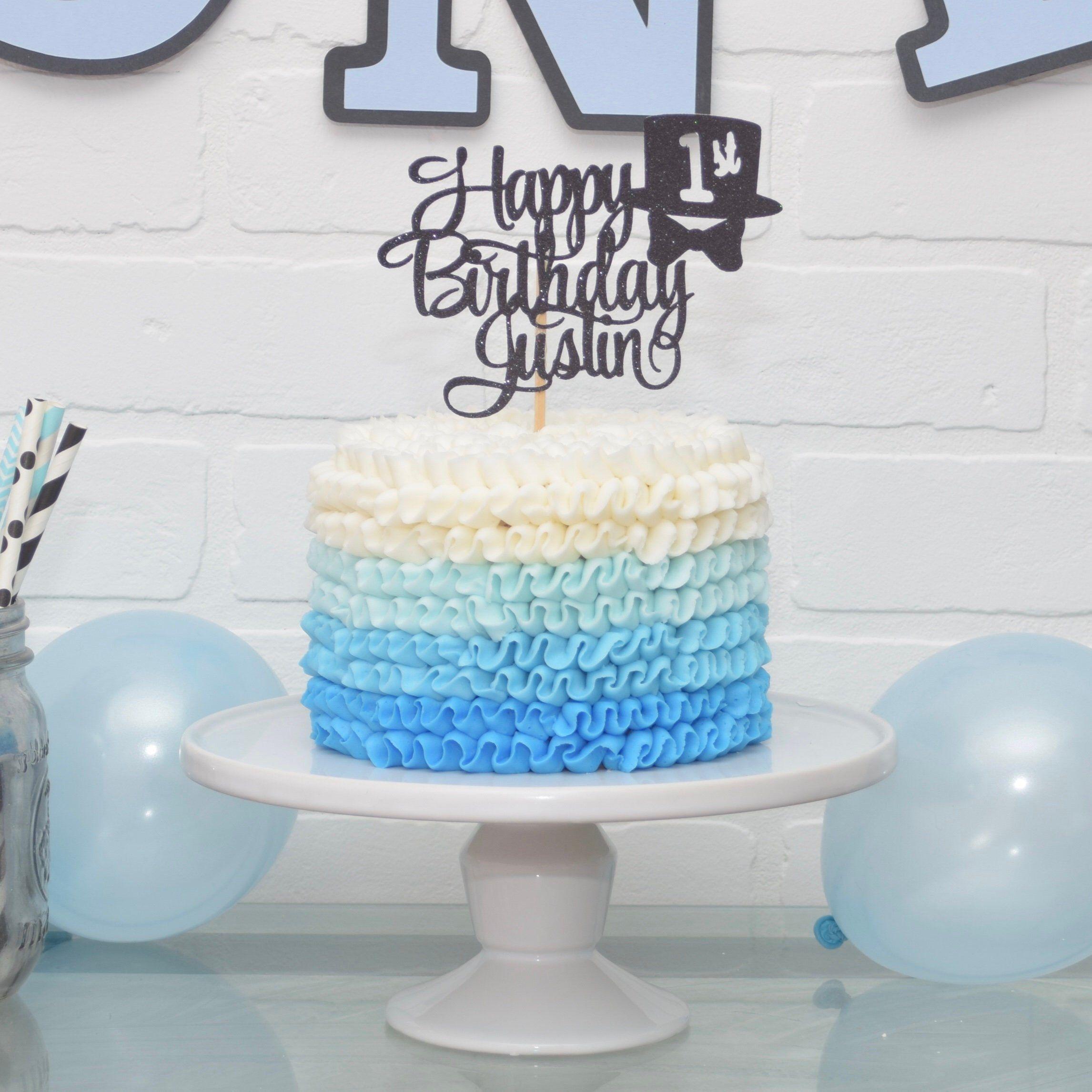 Little man cake topper little gentleman birthday mr