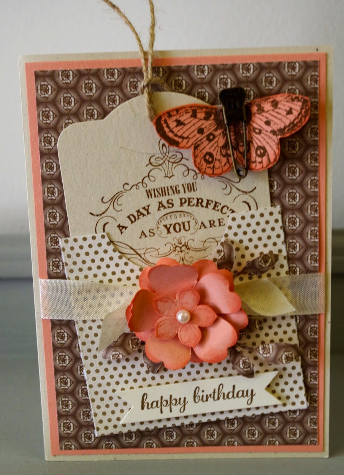 Beautiful Happy Birthday Cardwith A Butterfly And Flower And A