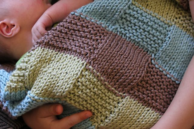 Ravelry Free Knitting Patterns For Baby Blankets : Ravelry: Stripe the Squares, Baby! pattern by Jennee ...