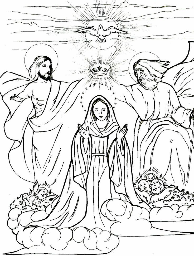 Queen Of Heaven Coloring Page