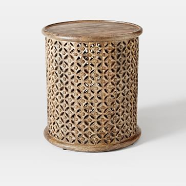 Carved Wood Side Table Side Table Wood Coffee Table Wood Side Table