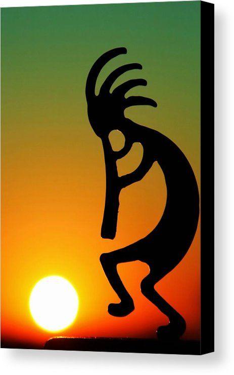 Kokopelli Canvas Print Canvas Art By Mitch Cat Kokopelli Art Native American Art Art