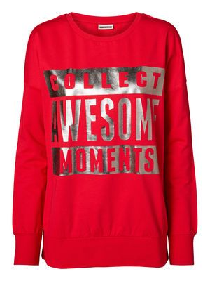 @Veronica MODA #Graphic #Red  MICHAEL AWESOME L/S SWEAT MIX - NM, Ski Patrol, main