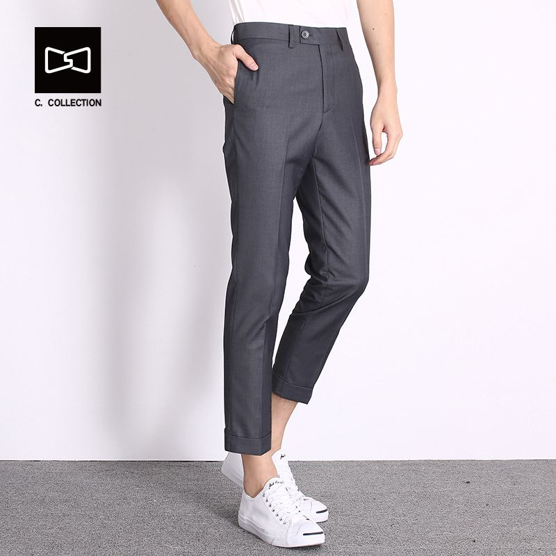 2017 Men's Casual Pants Men Fashion Pants Trousers Slim Fit Ankle-Length  Pants Spring Summer