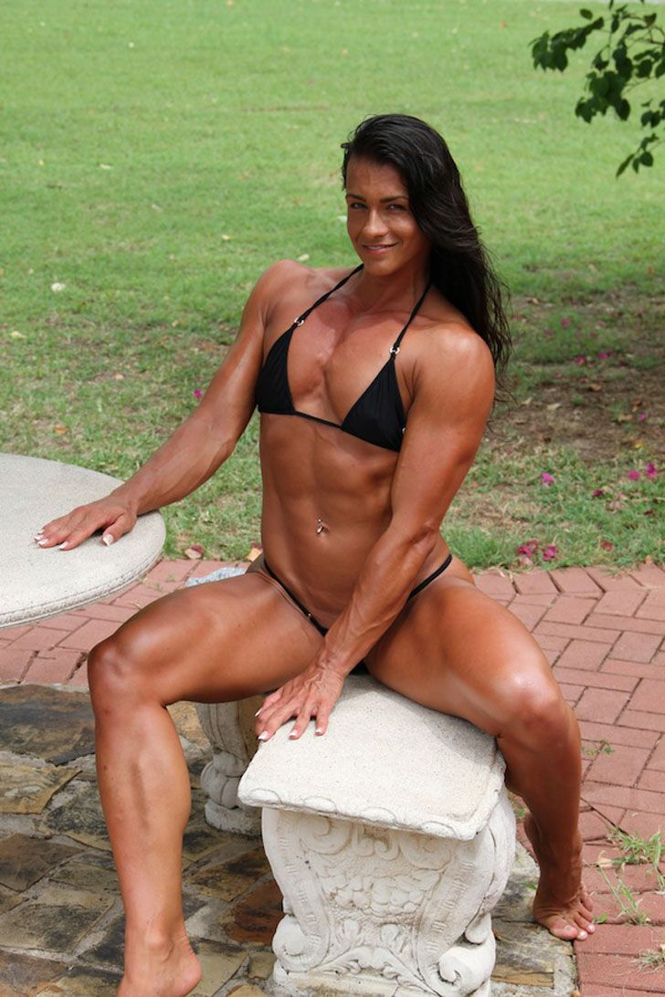 Nude muscle worship