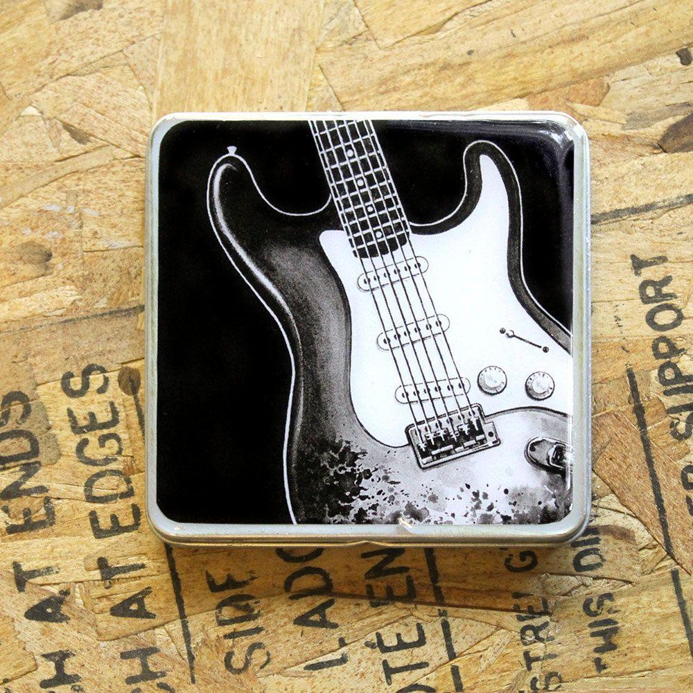 Fender Stratocaster guitar / Pick Holder / Metal Wallet | Etsy ...