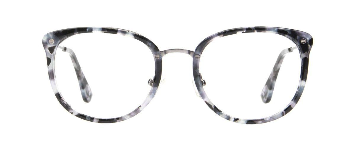 d899f6405c Affordable Fashion Glasses Square Round Eyeglasses Women Amaze Silver Flake  Front