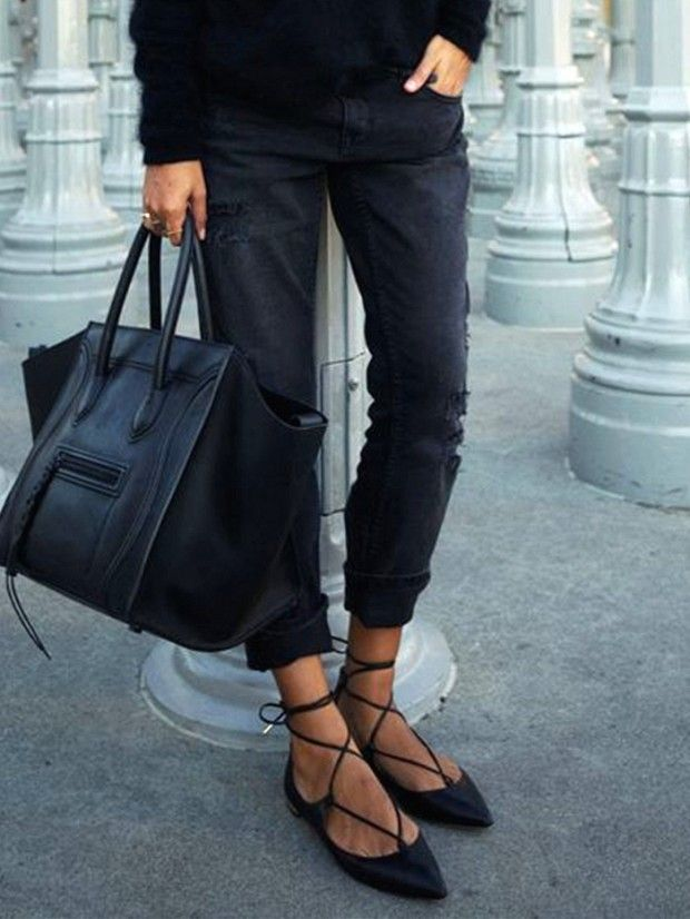 285a56e88b45 ... Lace-up babet. No boring buys here. via  WhoWhatWear 13 Ballet Flats  That Are Anything But Basic SHOES